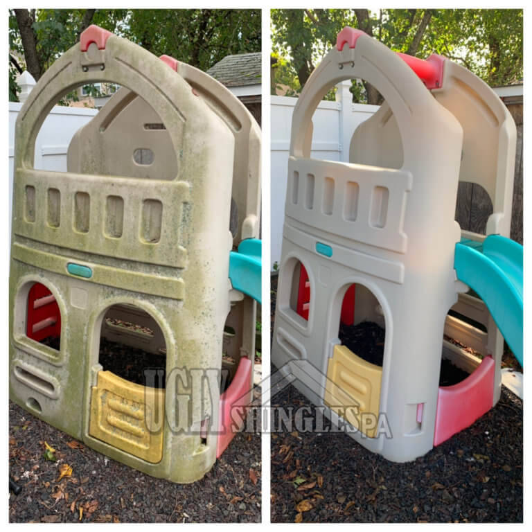 ugly shingles pa outdoor play set cleaning