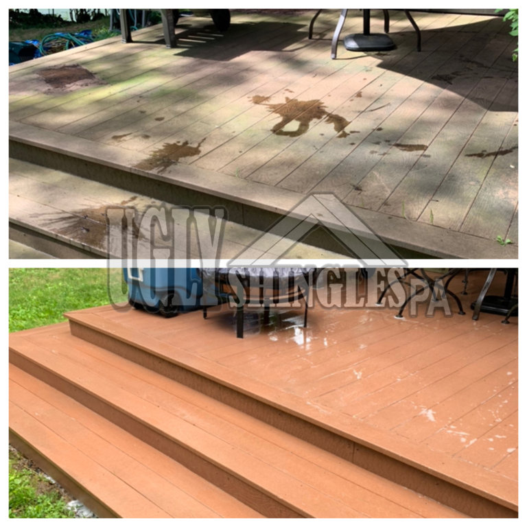 ugly shingles pa deck cleaning