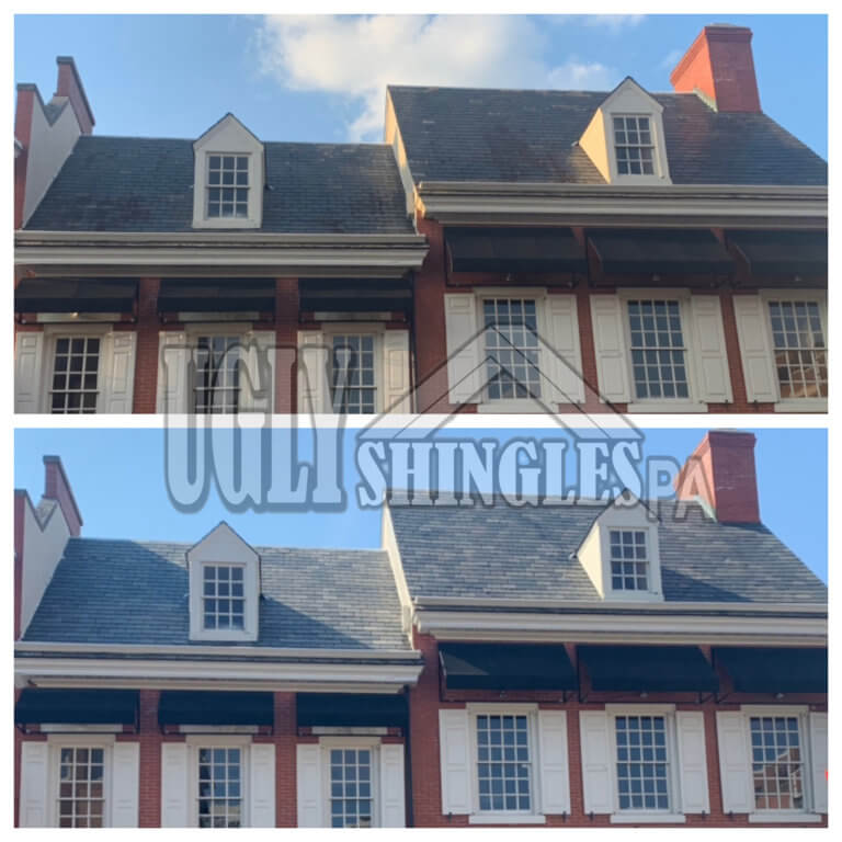 ugly shingles pa roof cleaning