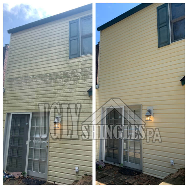 ugly shingles siding cleaning