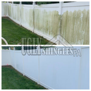 ugly shingles pa fence cleaning
