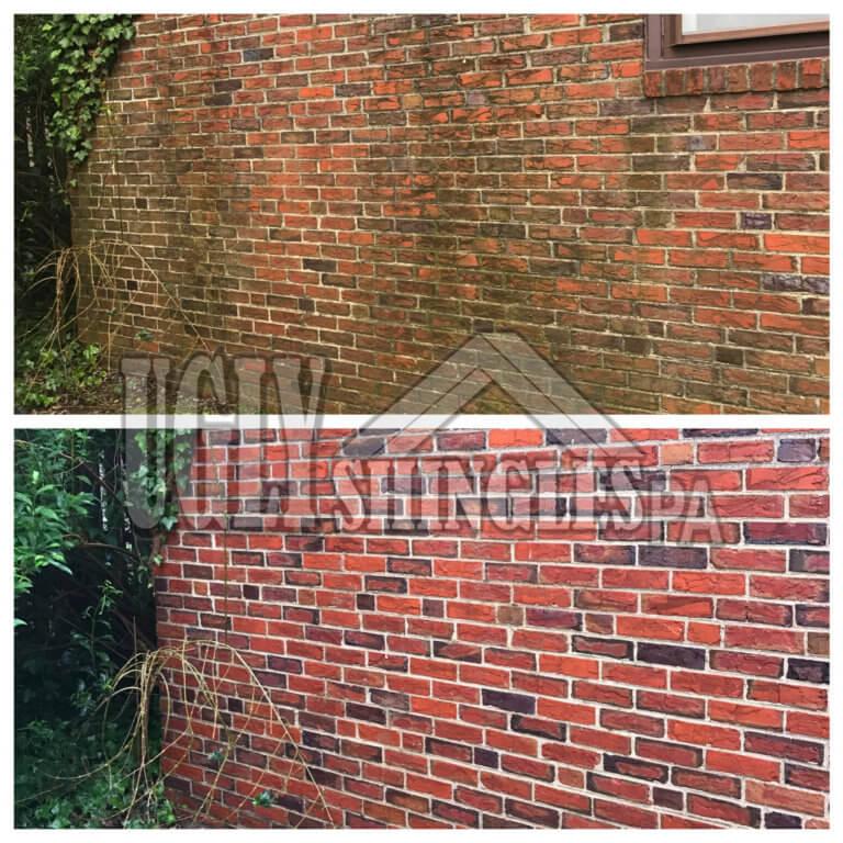 ugly shingles pa brick cleaning