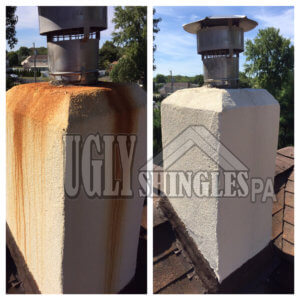ugly shingles pa rust cleaning