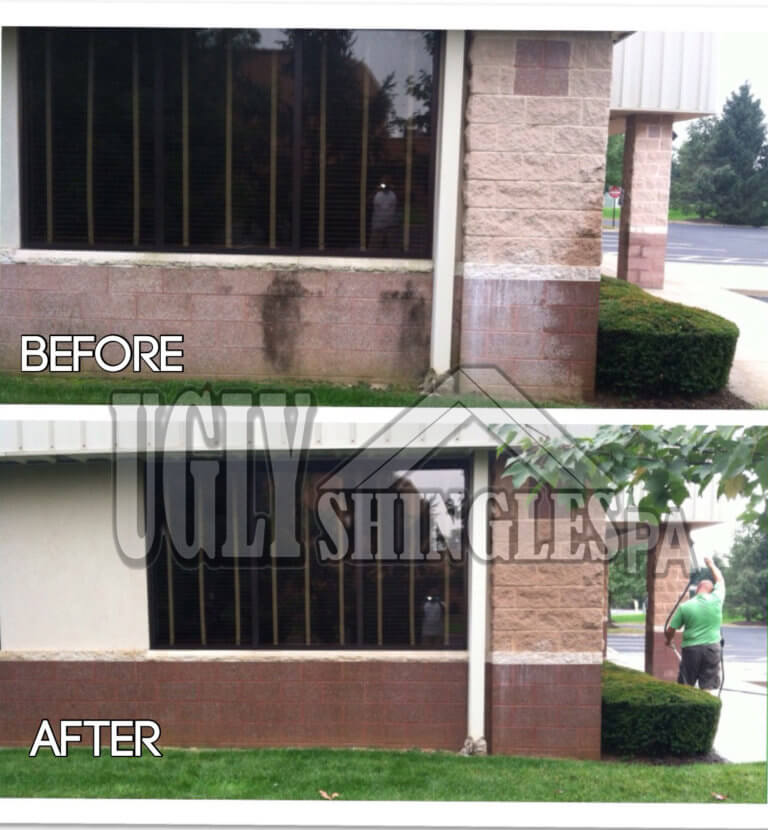 ugly shingles pa commercial building cleaning