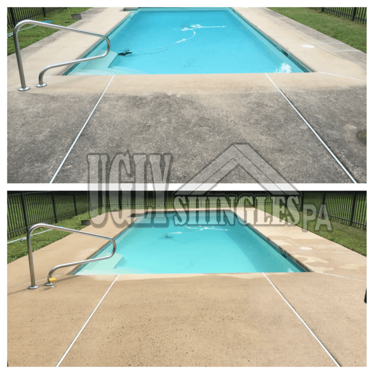 ugly shingles pa pool cleaning